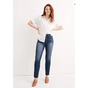 Madewell Slim Straight Dark Wash Jeans Size 24